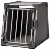 Trixie 39336 Transportbox, Aluminium, M: 55 × 61 × 74 cm, graphit - 1
