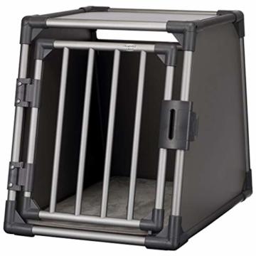 Trixie 39336 Transportbox, Aluminium, M: 55 × 61 × 74 cm, graphit - 2