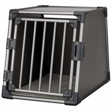 Trixie 39337 Transportbox, Aluminium, M–L: 61 × 65 × 86 cm, graphit - 1