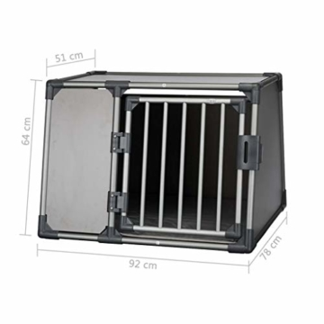 Trixie 39338 Transportbox, Aluminium, L: 92 × 64 × 78 cm, graphit - 2