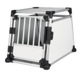Trixie 39342 Transportbox, Aluminium, M–L: 63 × 65 × 90 cm, silber/hellgrau - 1