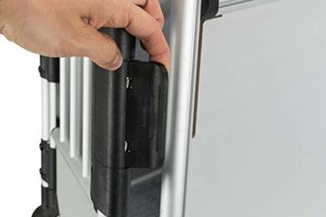 Trixie 39342 Transportbox, Aluminium, M–L: 63 × 65 × 90 cm, silber/hellgrau - 2