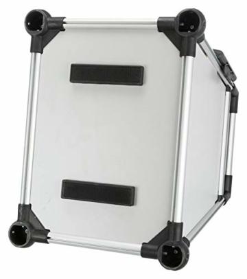 Trixie 39342 Transportbox, Aluminium, M–L: 63 × 65 × 90 cm, silber/hellgrau - 4