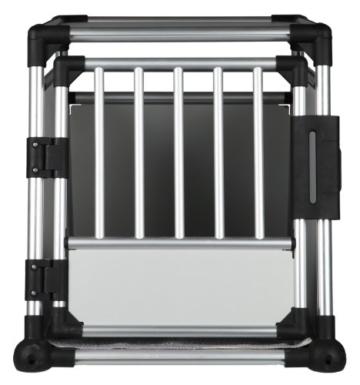 Trixie 39342 Transportbox, Aluminium, M–L: 63 × 65 × 90 cm, silber/hellgrau - 7