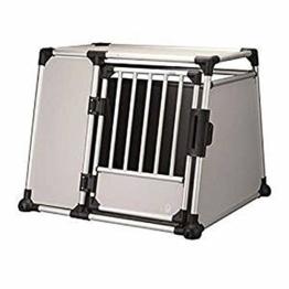 Trixie 39344 Transportbox, Aluminium, L–XL: 94 × 75 × 88 cm, silber/hellgrau - 1